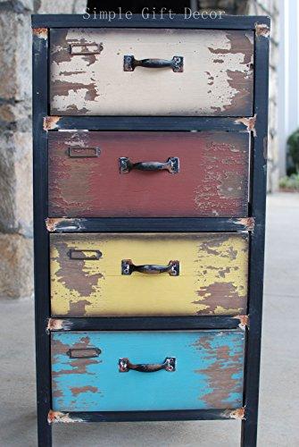 Y&K Decor Bureau 4 Drawer Nightstand by YK Decor