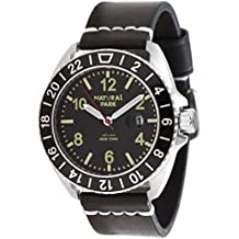 Unisex Dress Big Face Watches Watch with Date Calendar (Black Dial)