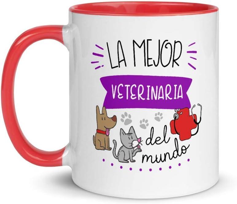 Kembilove. Tazas Desayuno Originales de Profesiones para Regalar a Trabajadores – Taza de Café de la Mejor Veterinaria del Mundo – Tazas con Frases Divertidas 100 Diseños Diferentes