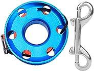 Romantic PresentCorrosion Resistance 30m/50m Diving Finger Spool, Stainless Steel Strong Durable Finger Spool