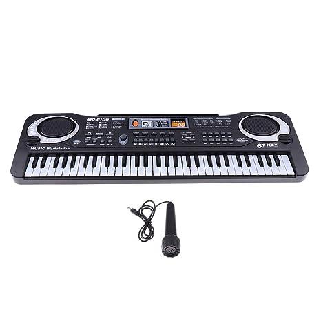 B Blesiya Multifuncional 61 Teclas Órgano Eléctrico / Piano Electrónico Teclado Juguetes Musicales para Niños
