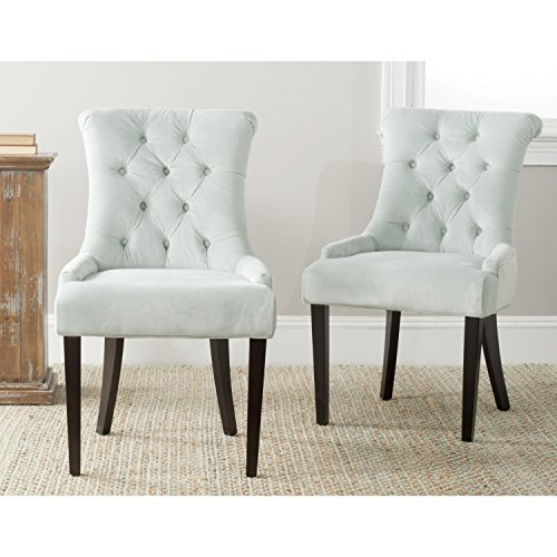 Dining Collection Light - Safavieh Mercer Collection Bowie Dining Chairs, Light Blue, Set of 2