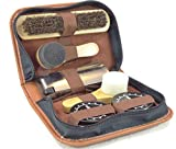 MARZ Products Deluxe Travel Leather Shoe Care Kit, 8 pc