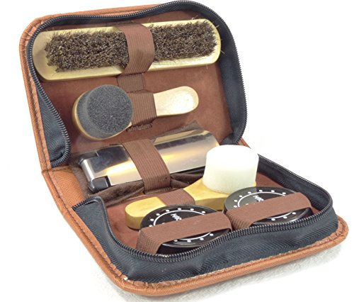 Marz Products Deluxe Travel Leather Shoe Care