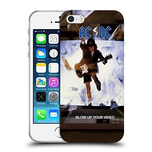Officiel AC/DC ACDC Faites Sauter Votre Vidéo Couverture D'album Étui Coque en Gel molle pour Apple iPhone 5 / 5s / SE