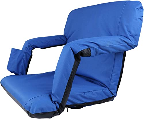 Portable Stadium Seat Chair Reclining Seat Environmental Protection Waterproof Material for Bleachers with Carry Straps-Water Resistant, Comfortable Cushioned Design,Home Venice Stadium Seat