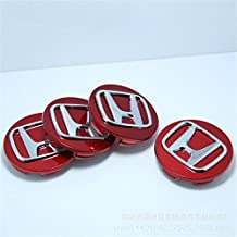 Automelody 4pcs 69mm A Set Of Wheel Hubcap Center Caps For Honda (type1, Red)