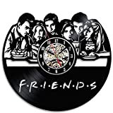 Friends Vinyl Record Wall Clock – 12 Inch Silent Comics Quartz Wall Clock – Movie Characters Non-ticking Digital Clocks for Kids, Home Decoration (Friends) Review