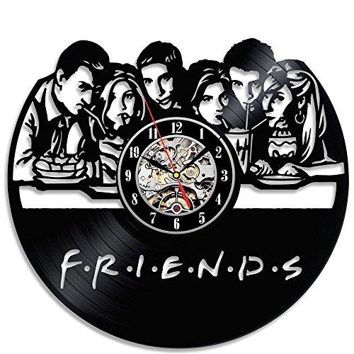 Friends Vinyl Record Wall Clock – 12 Inch Silent Comics Quartz Wall Clock – Movie Characters Non-ticking Digital Clocks for Kids, Home Decoration (Friends) Review