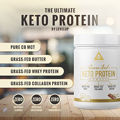 Grass-Fed Keto Protein Powder - Pure C8 MCT Oil