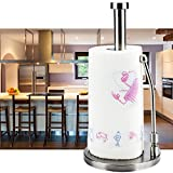 KOKODI Kitchen Standing Paper Towels Holder,Stainless Steel Countertop Rack for Tissue and Napkin in Roll