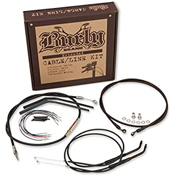 HTTMT P//N: HBA003-III 14 Stainless Brake Cable Line Kit Compatible with 2008-2013 Harley Touring For 16 Monkey Handlebars Chrome