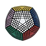 I-xun® Perfect Magic Cube Smooth Dodecahedron Cube Megaminx Cube Black (9x9)