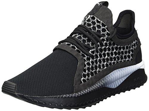 - PUMA Men's Tsugi Netfit Sneaker, White Black, 8 M US