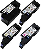 GLB © High Quality Dell 1250 / 1350 / 1355 High Yield Compatible Toner Cartridges SET Black , Cyan , Magenta , Yellow (331-0777, 331-0778, 331-0779, 331-0780) for Dell 1250, 1250C, 1355CN, 1355cnw, C1760nw, C1765nf, C1765nfw, 1350, 1350CNW, 1355
