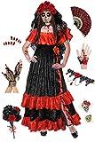Plus Size Day of the Dead Halloween Costume For Dia de los Muertos