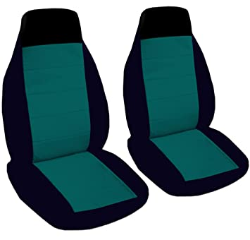 2 black and teal car seat covers for a 2002 Ford Focus  sc 1 st  Amazon.com & Amazon.com: 2 black and teal car seat covers for a 2002 Ford Focus ... markmcfarlin.com