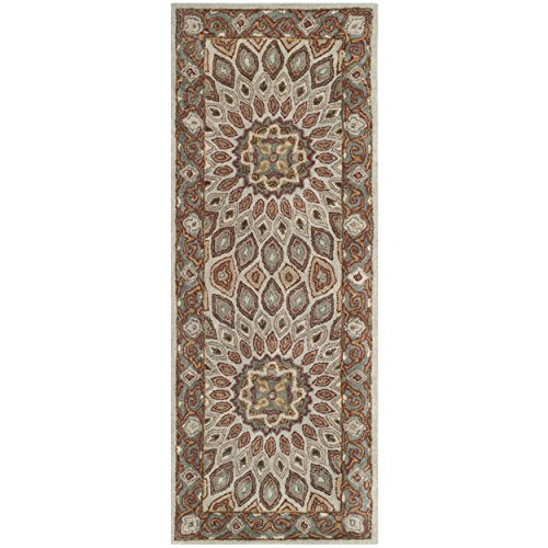 (Safavieh Heritage Collection HG914B Handcrafted Traditional Oriental Blue and Grey Wool Runner (2'3