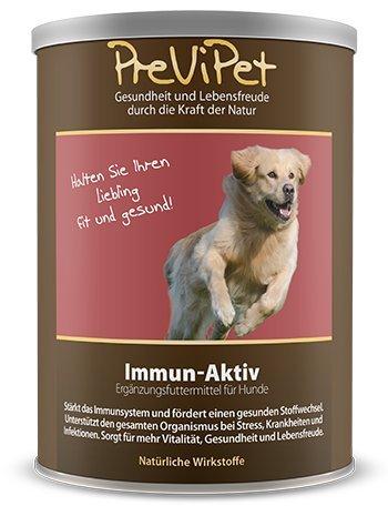Previpet Immun-Aktiv (Pulver) für Hunde 500g - stärkt das Immunsystem & fördert den Stoffwechsel - für mehr Vitalität, Gesundheit und Lebensfreude - unterstützt bei bei Stress Krankheit und Infektionen