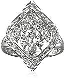 10k White Gold Multi Marquise Diamond Ring (1/4cttw, I-J Color, I2-I3 Clarity), Size 7