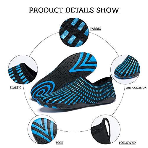 Aqua Blau Schuhe Surfschuhe Schwimmschuhe Madaleno Schnelltrocknend rect Strandschuhe Damen für Badeschuhe Wasserschuhe Herren nWcx4xTPt
