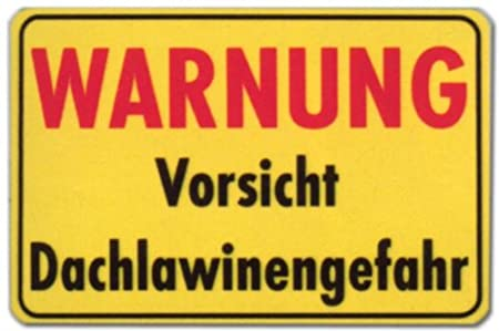 Cartel - advertencia precaución techo de peligro de aludes ...
