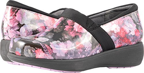 SoftWalk Women's Meredith Sport Purple/Pink Floral Patent Loafer