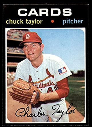 71253be1f2a Amazon.com  1971 Topps  606 Chuck Taylor Near Mint Cardinals ...