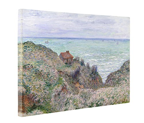 Niwo Art (TM - Cabin of The Customs Watch, by Claude Monet - Oil Painting Reproductions - Giclee Canvas Prints Wall Art for Home Decor, Stretched and Framed Ready to Hang (20