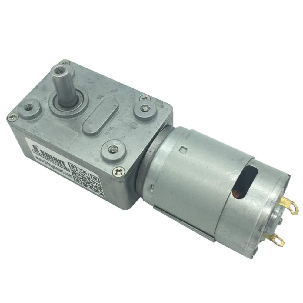 Bringsmart 8-200rpm Worm Motor Reverse 6-24V High Torque DIY Part Rotating Table Door Lock(JGY385 24V 8rpm,)