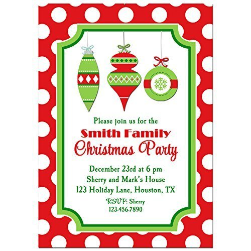 Image Unavailable. Image not available for. Color: Christmas Ornament Party  Invitations ... - Amazon.com: Christmas Ornament Party Invitations With ANY Wording