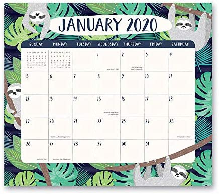 January 2020 Calendar Colorful Amazon.: Orange Circle Studio 2020 Magnetic Monthly Calendar
