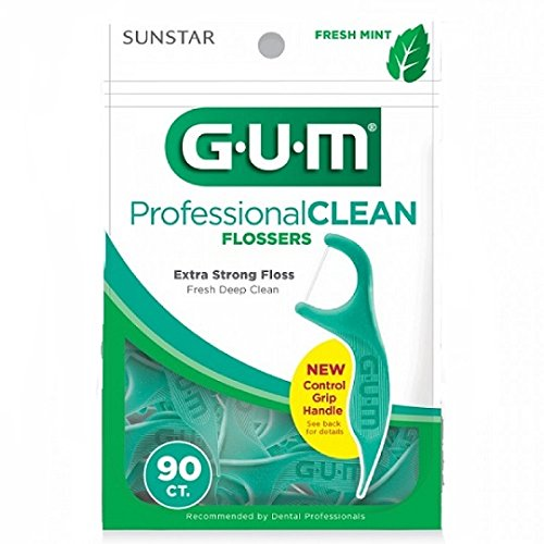 Gum Professional Clean Flossers, Fresh Mint 90 ea