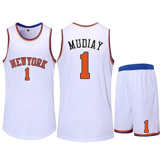 CCKWX New York Knicks # 1 Emmanuel Mudiay Trajes De Uniforme De ...