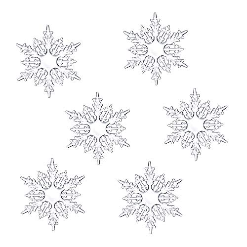 (Christmas Ornaments, Hoshell Clear Acrylic Snowflake Ornament Set Christmas Snowflake Ornaments Approximately (6PC))