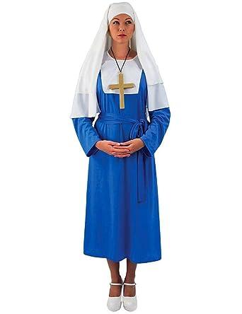 Amazon.com: Nun traje azul: Clothing