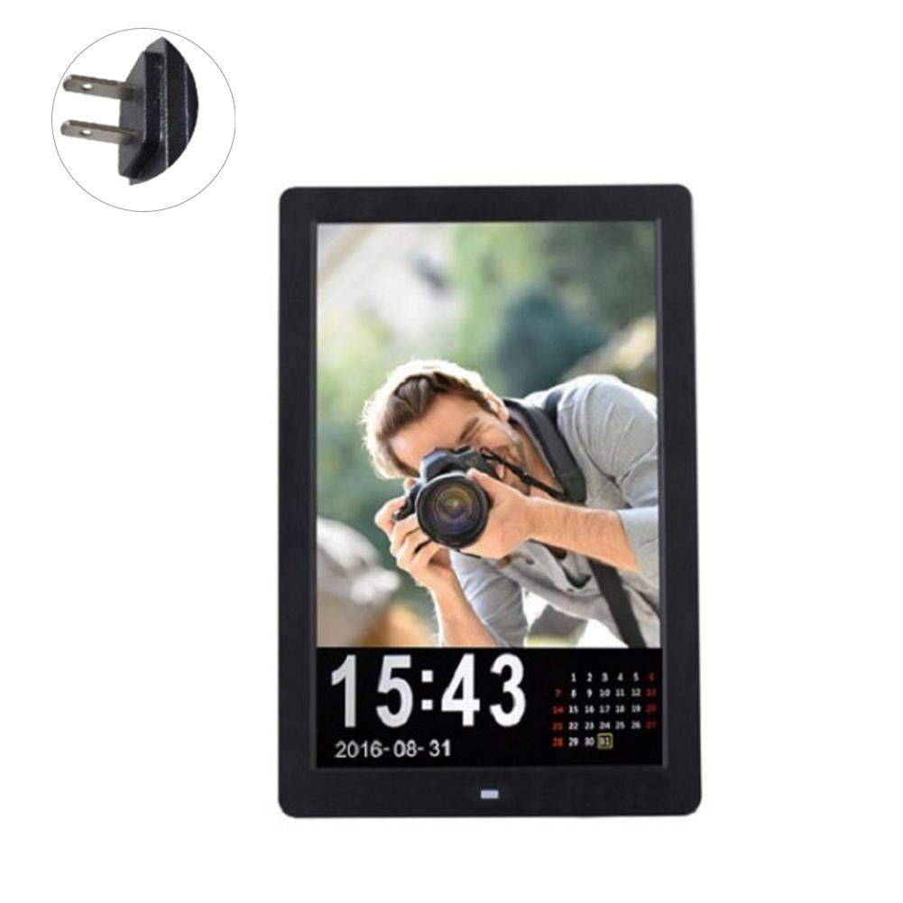 12-inch High-definition LED Digital Vertical Picture Frame, Remote Control Electronic Photo Frame HD LED Screen Electronic Photo Frame Album With Alarm Clock / Calendar / Clock Function, MP3 / Photo