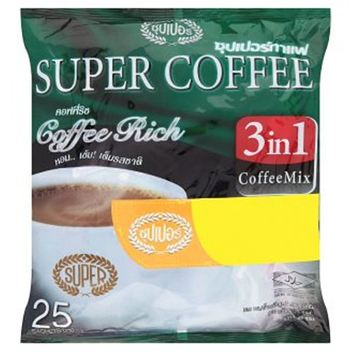 Super Coffee 3 in 1 Coffee Rich Coffee Mix 20g X 25 Packs