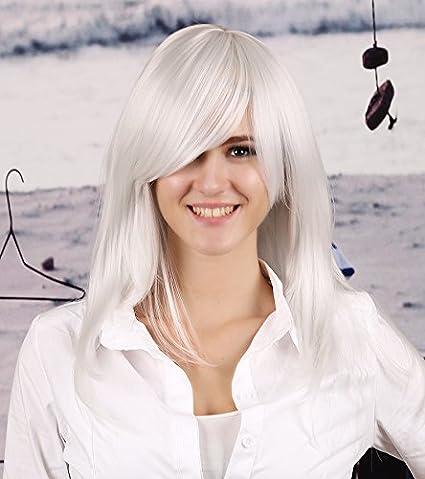 Amazon.com : Woman Cosplay Wig A Prueba De Calor Sintética Peluca Cosplay Natural Largo Y Casta?o Long Straight Pelucas De Pelo Sintético Mujer Mujeres Sexy ...