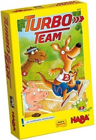 Haba 4247 Turbo-Team - Juego infantil [Importado de Alemania]: Amazon.es: Juguetes y juegos