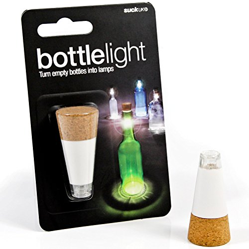 Pirate Legless Corkscrew Bottle Opener and USB Rechargeable Bottle Light Bundle, 2 Items