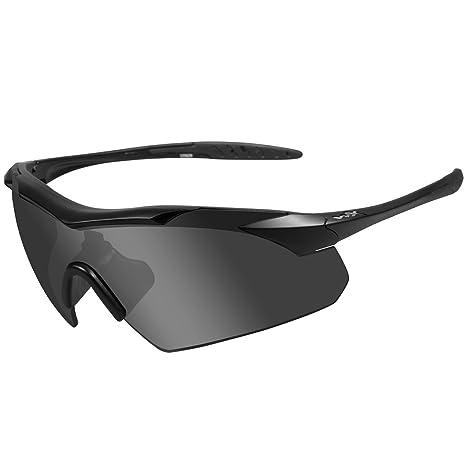 770ead8cbe WILEY X VAPOR Smoke Grey Clear Matte Black Frame  Amazon.co.uk ...