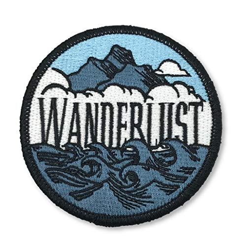 OHoulihans - Wanderlust Patch - Hiking Camping Travel Adventure Patch - Iron on Patch