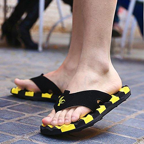 Les hommes dété cool chaussons chaussons non glissante et champ de sable rouge 42