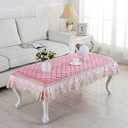europäischen stil spitzen aus tabelle stoffservietten staubdichten universal rechteckige tisch läufer,a-lila,80  120 cm b - Rosa 60  120cm