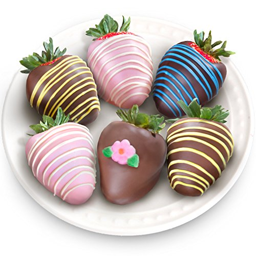 Golden State Fruit 6 Piece Joy of Spring Chocolate Covered Strawberries
