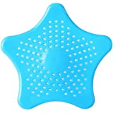 KetZeal Rubber Starfish Hair Catcher Kitchen Sink Strainer Bath Drain Cover Trap Basin (Multicolor)