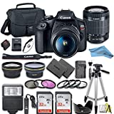 Canon EOS Rebel T7 DSLR Camera Bundle with Canon 18-55mm Lens + 2pc