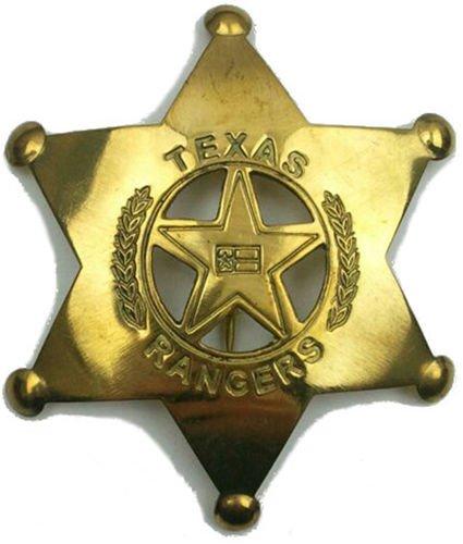 [Costume Badge Brass Texas Ranger Prop] (Jail Costume For Kids)
