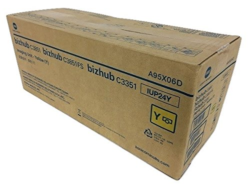 A95X06D IUP24Y Genuine Konica Minolta Imaging Unit, 50000 Page-Yield, Yellow by Konica-Minolta